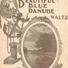 Beautiful Blue Danube Waltz by Strauss Eclipse Publishing Vintage Sheet Music
