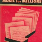 Music For Millions World Famous Songs Volume 2 J J Robbins Vintage