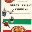 Great Italian Cooking Cookbook by Luigi Carnacina Vintage LOC # 68-28378  6828378