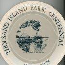 Thousand Island Park Centennial Collector Plate Souvenir Vintage Walker China