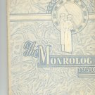 The Monrolog 1950 Year Book Yearbook Monroe Vintage New York Rochester Advertisements Signatures