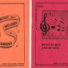 Music By Rote & By Note Warps Review Workbooks 5 & 6 Vintage