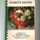 Favorite Recipes Cookbook ST. Joseph's Parish Penfield NY Regional
