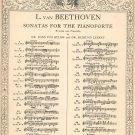 L Van Beethoven Sonatas For The Pianoforte Vintage G Schirmer