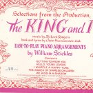 The King And I Music Book by William Stickles Piano Vintage Williamson Music