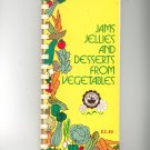 Jams Jellies And Desserts From Vegetables Cookbook Mens Garden Club Vintage First Printing