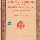 A Sunny In The Finger Gymnasium by Frances Terry Music Book Piano Vintage