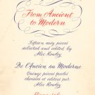 The Musical Gateway From Ancient To Modern Alec Rowley Music Book Piano Vintage