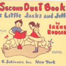 A Second Duet Book For Little Jacks & Jills by Irene Rodgers Music Book Vintage