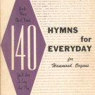 140 Hymns For Everyday Music Book Organ Vintage Hammond