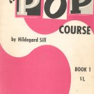 Hammond Organ Pop Course by Hildegard Sill Book 1 & Book 2 Vintage Lot