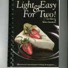 Light & Easy For Two Cookbook by Lee Harvey & Helen Chambers 096923693x
