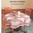 Diamond Log Cabin Tablecloth Or Treeskirt by Freida Harrod Quilt In A Day Series