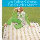 Afghan And Fashion Collection From Columbia Minerva Book 776 Vintage 1970