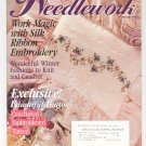McCalls Needlework February 1995 Silk Ribbon Embroidery  Crochet Tatted With Pattern
