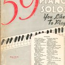 59 Piano Solos You Like To Play G Schirmer Vintage Music Ed. 1569