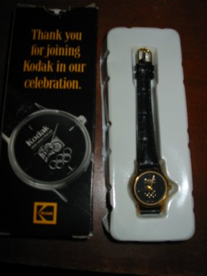 Kodak 100 Year Olympic Souvenir Watch Complete With Box