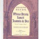 Missa Brevis Sancti Joannis de Deo Small Organ Mass Joseph Haydn Vintage G Schirmer