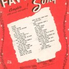 Your Favorite Songs Complete With Words & Music Vintage Mills Music