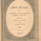 Art Songs For School & Studio First Year Medium Low Oliver Ditson Co. Vintage