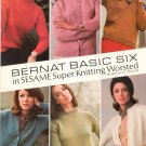 Bernat Basic Six In Sesame Super Knitting Worsted Number 137 Vintage