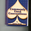 ACBL Bridge Series Commonly Used Conventions by Audrey Grant 0943855144 Card Game