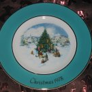 Avon Christmas Plate 1978 Trimming The Tree Vintage With Box