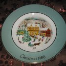 Avon Christmas Plate 1980 Country Christmas With Box