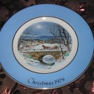 Avon Christmas Plate 1979 Dashing Through The Snow Vintage With Box