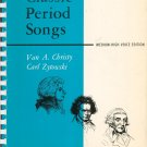 Classic Period Songs by Van A. Christy & Carl Zytowski Medium High Voice Edition