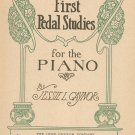 First Pedal Studies For The Piano by Jessie L. Gaynor Vintage John Church Company