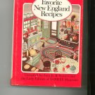 Favorite New England Recipes by Yankee Magazine Cookbook 0911658505 Vintage