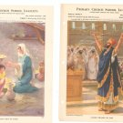 Lot Of 18 Religious Lithographs Presbyterian Church Vintage 1945 Providence Lithograph Co.