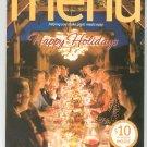 Happy Holidays Wegmans Menu Magazine Holiday 2008  Issue 31