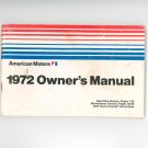 1972 American Motors Owners Manual
