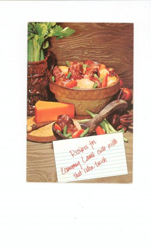 Recipes For Economy Lamb Cuts With Extra Touch Cookbook Vintage 1969 Lamb Council