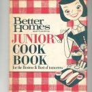 Better Homes and Gardens Junior Cook Book Cookbook Vintage 1963