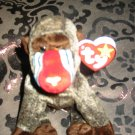 Ty Cheeks The Baboon With Tag Retired Beanie Baby