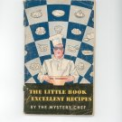 The Little Book Of Excellent Recipes Cookbook by The Mystery Chef Davis Baking Powder Vintage