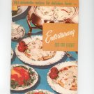 Entertaining Six Or Eight Cookbook # 115 by Culinary Arts Institute Vintage Item