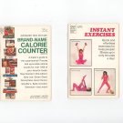 Brand Name Calorie Counter & Instant Exercises Vintage Booklet Dell 4058 & Dell 0808
