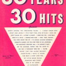 30 Years 30 Hits Book 1 Miller Music Corp. Vintage Words & Music Complete