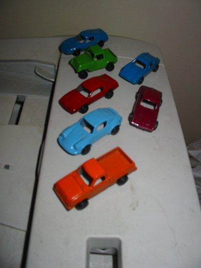 Lot Of 7 Tootsie Toy Car Automobile Tootsietoy