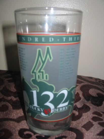 Kentucky Derby 132 Souvenir Glass 2006 Churchill Downs