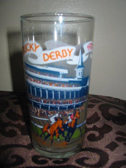 Kentucky Derby Souvenir Glass 1979 Churchill Downs