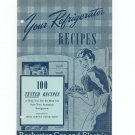 Your Refrigerator Recipes Cookbook Vintage Regional Rochester Gas Electric New York