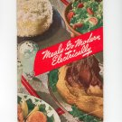 Meals Go Modern Electrically Cookbook Vintage Electric Kitchen Bureau Edison