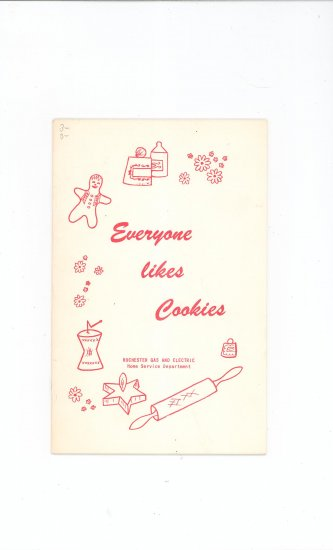 Everyone Likes Cookies Cookbook by Rochester Gas & Electric Company Vintage Regional New York