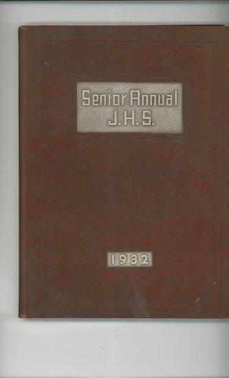 Senior Annual 1932 Year Book Yearbook Jamestown High School New York Vintage
