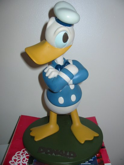 Awesome Donald Duck Garden Statue Figurine Disney Large Size In Original Box